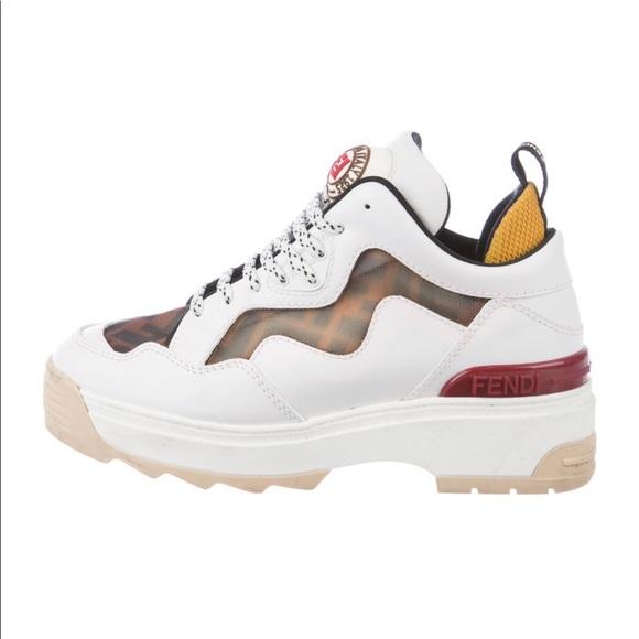 Fendi Zucca Monogram Platform Sneakers